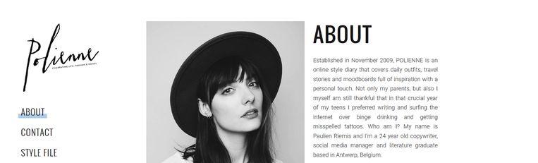 Profiel van de Vlaamse Blogster Paulien Riemis, die zich onder de naam 'Polienne' inmiddels internationaal op de kaart wist te zetten in het de blogosfeer.  Beeld polienne.com