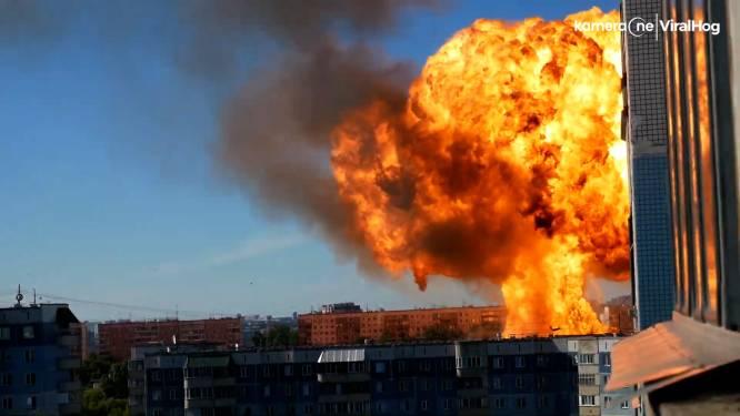 Grote ontploffing bij tankstation in Rusland