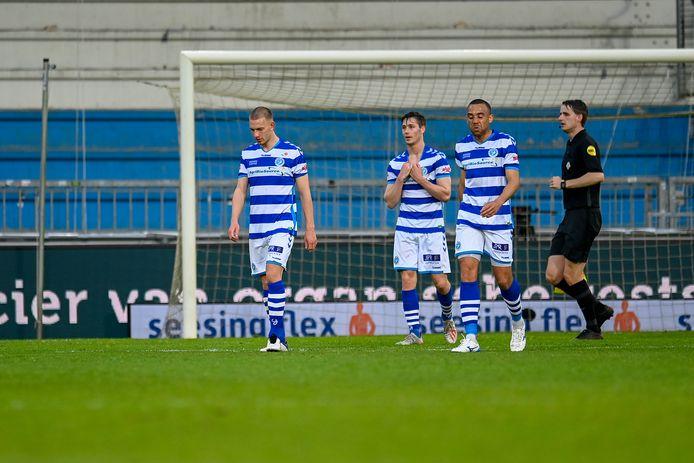 Jasper van Heertum, Jesse Schuurman en Johnatan Opoku (vanaf links) stappen met De Graafschap opnieuw de Keuken Kampioen Divisie in.
