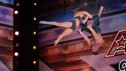 Hij is halfblind, maar toch zet trapezekoppel halsbrekende act neer in 'America's Got Talent'