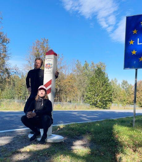 Spanning loopt op: zijn fietsers Schimmelpenninck en Borghouts op tijd in Lapland?