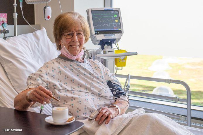 Astrid Dierinck (84) in het OLV Aalst