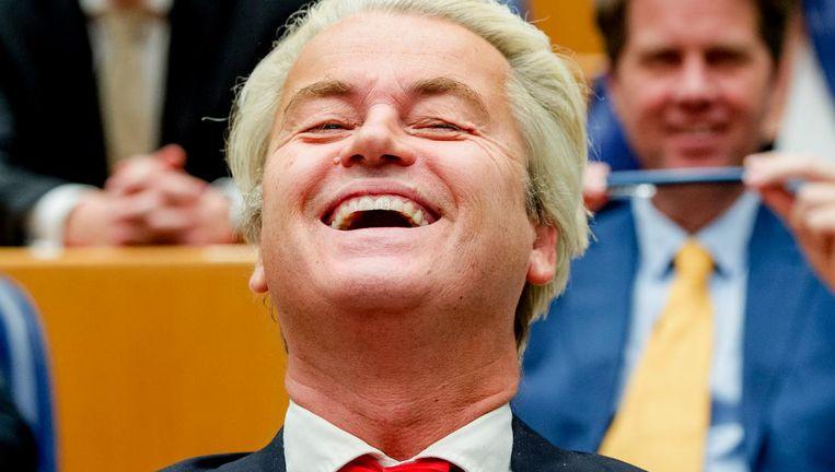 Geert Wilders (m) in de Tweede Kamer. Beeld anp