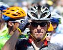Lance Armstrong na zijn rentree, tijdens de Tour de France van 2010.