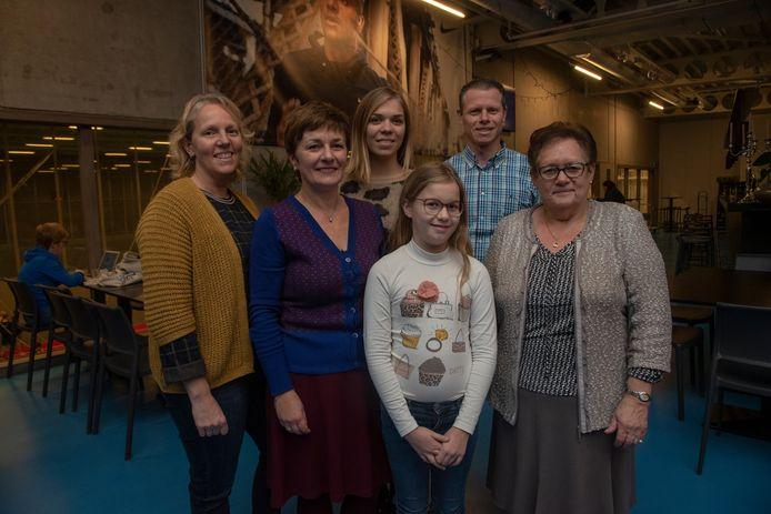 De familie van Yves De Lausnay in 2018.