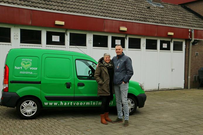 Patrick en Miranda Verkoelen, oprichters van de particuliere voedselbank Stichting Hart voor Minima in Helmond.