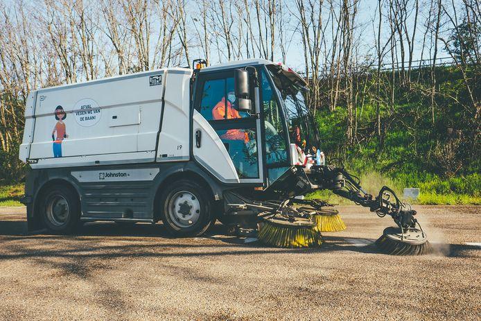 Ook op de wagens van de schoonmaakdienst zullen de figuurtjes verschijnen.