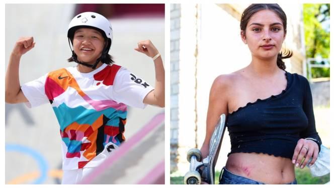 """Momiji (13) is eerste vrouwelijke kampioene Olympisch skateboarden, ook bij Belgische meisjes is de sport steeds populairder. """"Vroeger voelde ik mij geïntimideerd, nu zie ik geen onderscheid meer"""""""