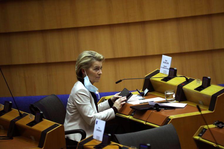 Ursula von der Leyen : 'Staatsgeweld en onderdrukking van vrijheden en rechten zijn onacceptabel.' Beeld AP