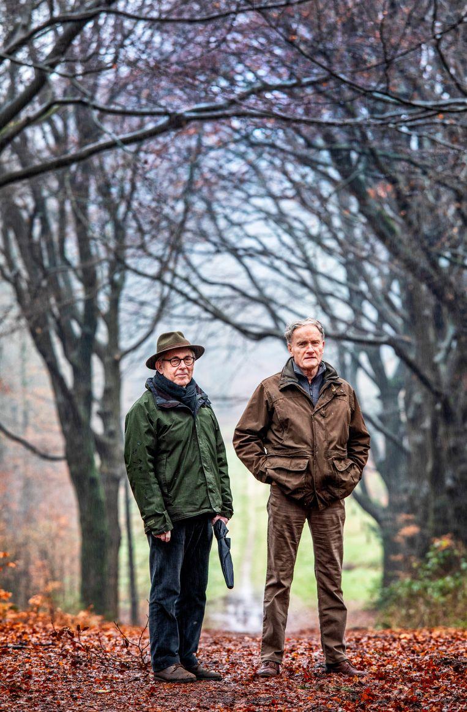 Frits van Beusekom en Jaap Kuper: 'Dit is landbouw met bomen.' Beeld null