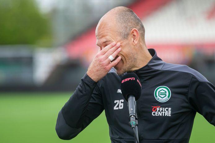 Arjen Robben in tranen na zijn twee assists tegen FC Emmen.