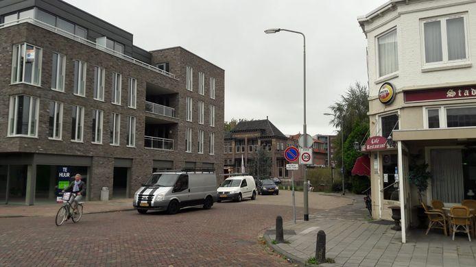 De Bram van den Berghstraat bezien vanaf de Spoorlaan in Oss.