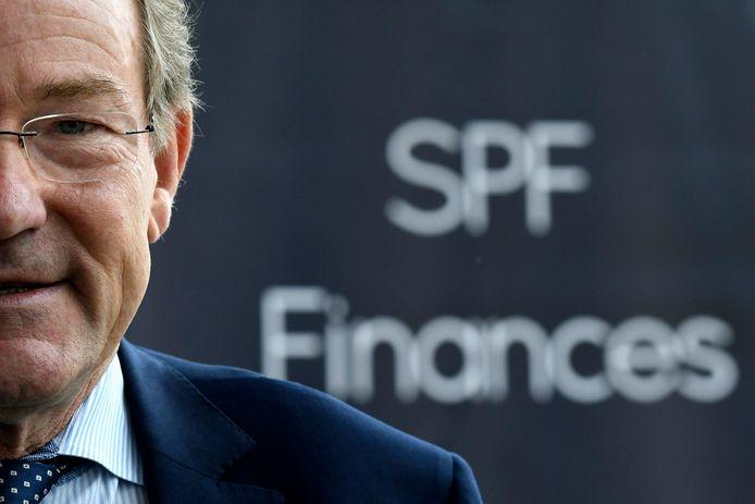 Minister van Financiën  Johan Van Overtveldt .