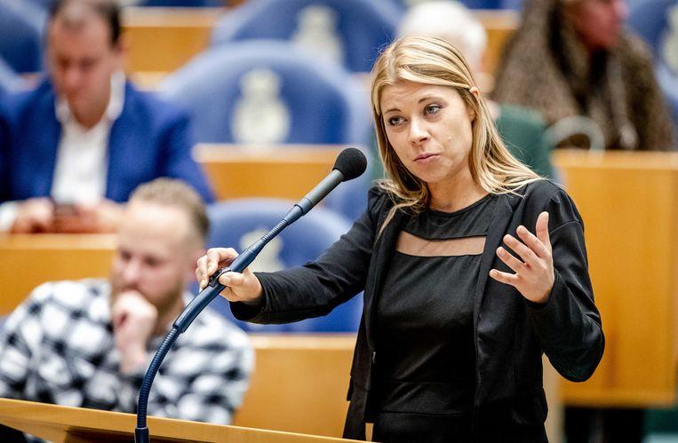 Tweede Kamerlid Lisa Westerveld (GroenLinks): opnieuw met voorkeurstemmen in de Tweede Kamer gekozen.   Beeld ANP / Sem van der Wal