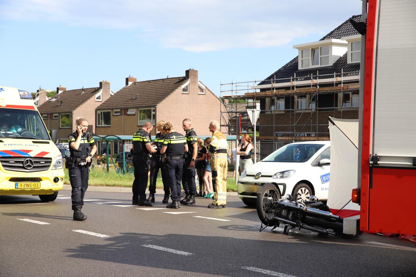 De situatie direct na het ongeval in Vuren.