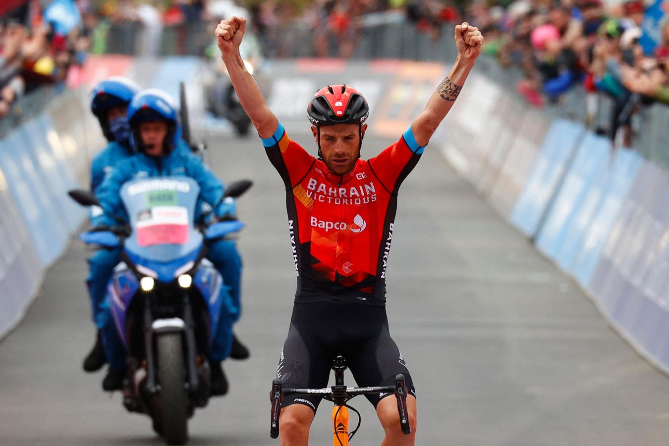 Damiano Caruso won op Alpe Motta.
