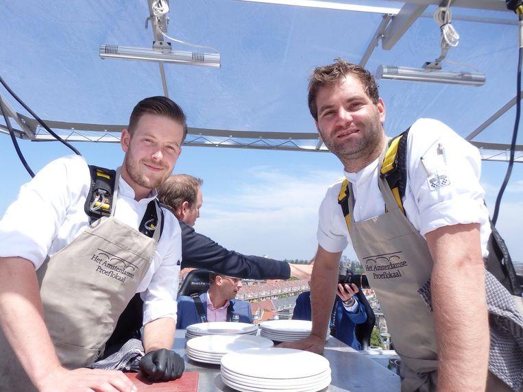 Chefs, op grote hoogte: Floyd van Hees en Richard Aloserij Beeld Schuim
