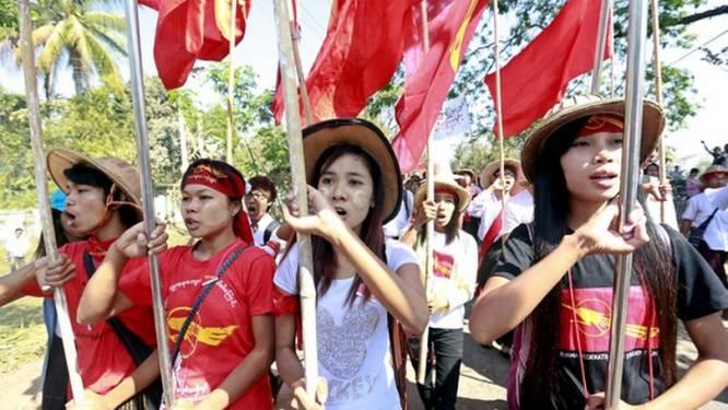 Monniken en studenten in hongerstaking in Myanmar