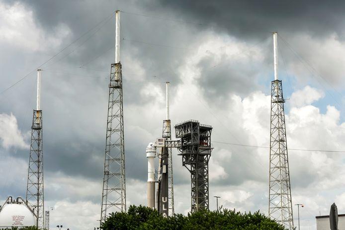 Beeld van de opstelling op Cape Canaveral vandaag.