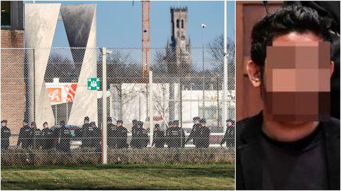 Faton S. gijzelde woensdagnamiddag een cipier in de Brugse gevangenis.