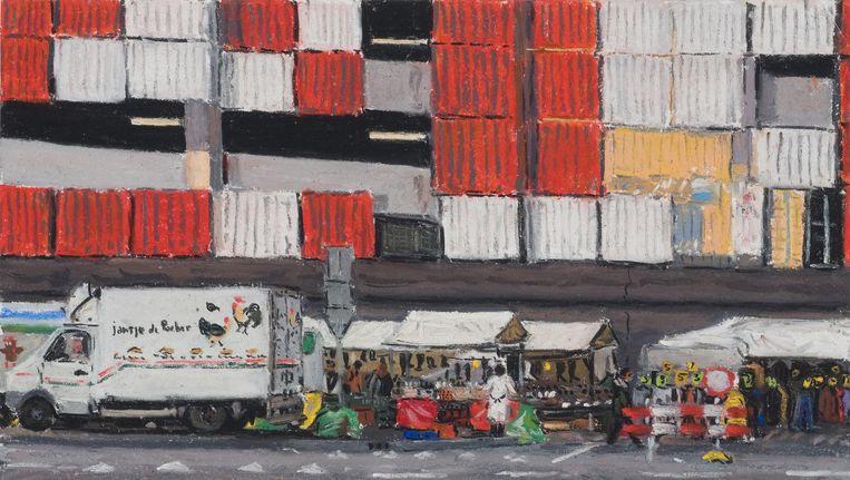 Joanna Quispel is de nieuwe stadstekenaar van Amsterdam Beeld Thijs Quispel