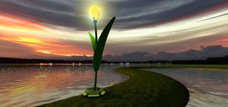 Landmark van verlichte tulp op Tulpeiland Zeewolde komt voorjaar 2022