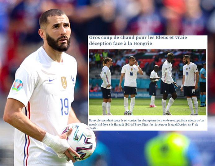 De Franse pers over Les Bleus en Karim Benzema, hier op de foto.