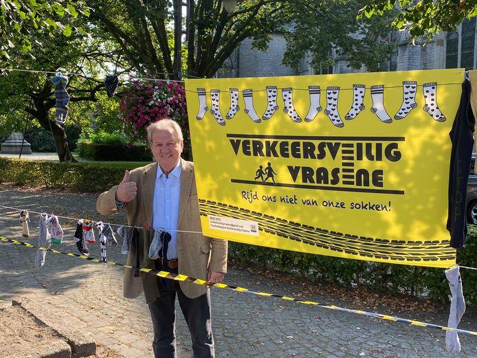 Ook commissaris Witse kwam een handje toesteken bij de actie.