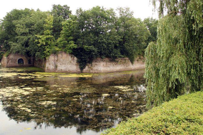 Zo zag het Ravelijn er voor de restauratie uit, bedekt met weelderig groen.