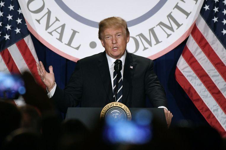 Amerikaans president Donald Trump. Beeld EPA
