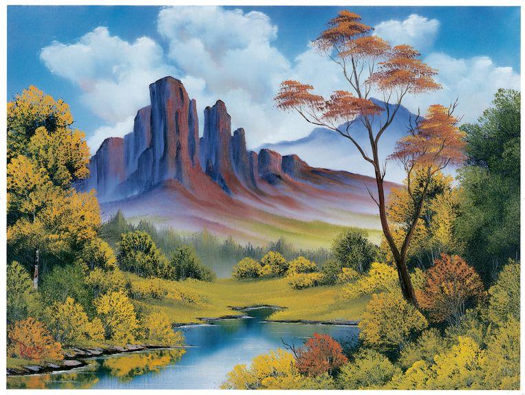 Nature's Paradise door Bob Ross. Beeld Bob Ross Inc