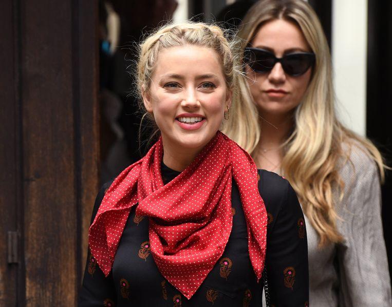 Ook Amber Heard was opnieuw paraat op de zevende procesdag.