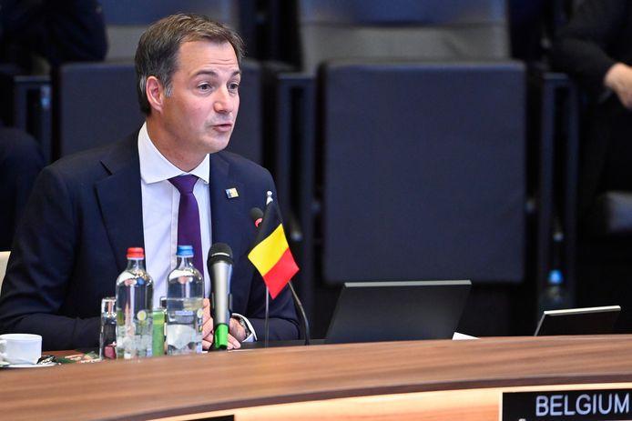 Le Premier ministre Alexander De Croo photographié lors de la réunion du Conseil de l'Atlantique Nord au sommet des chefs d'État de l'alliance militaire de l'OTAN (Organisation du traité de l'Atlantique Nord), lundi 14 juin 2021, à Bruxelles.