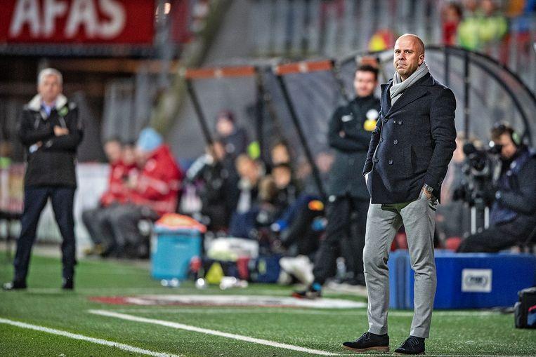 Arne Slot in zijn tijd als trainer van AZ. Beeld Guus Dubbelman / de Volkskrant