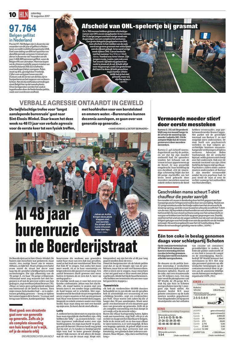 Op 12/8/2017 verscheen dit artikel al in Het Laatste Nieuws.