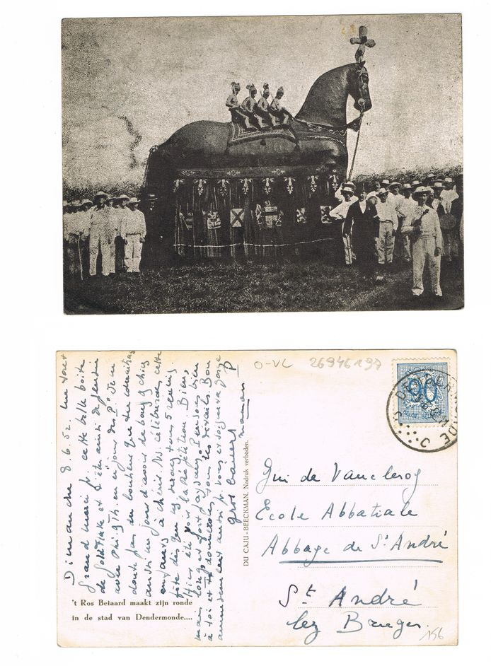 De Postzegelkring is al verschillende prentkaarten met het Ros Beiaard rijk, maar wil er nog veel meer.