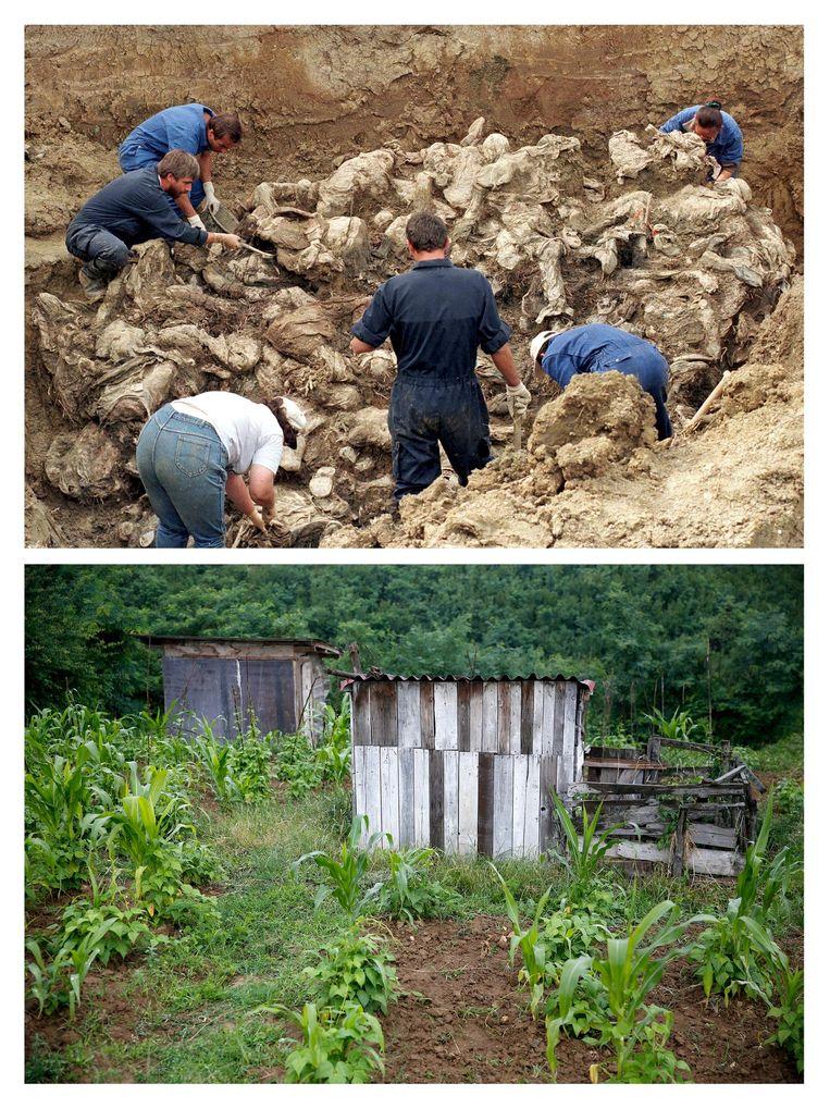 Meer dan 5.000 slachtoffers zijn in massagraven gevonden. Nog steeds zijn honderden mannen vermist. Beeld REUTERS