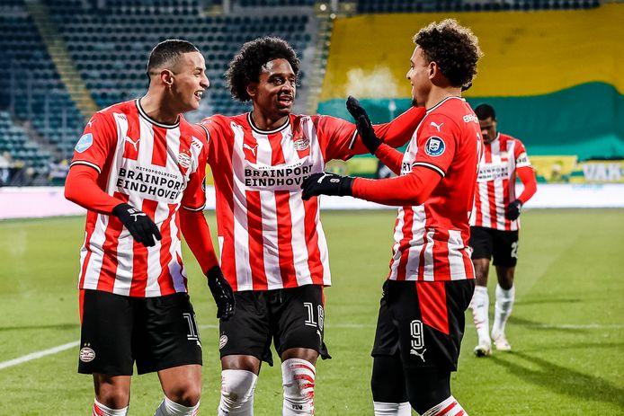 Mohamed Ihattaren, Pablo Rosario en Donyell Malen, spelers die de club allemaal kunnen verlaten.