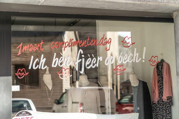 Lieve woorden op Complimentendag in Sint-Truiden.