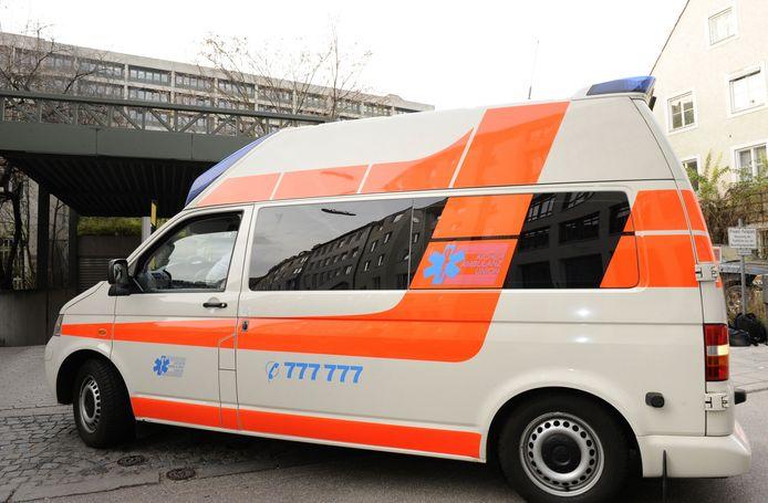Archiefbeeld: Een Duitse ambulance.