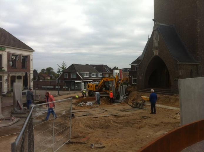 De Markt in Silvolde ligt weer open, na een vergissing van de gemeente.
