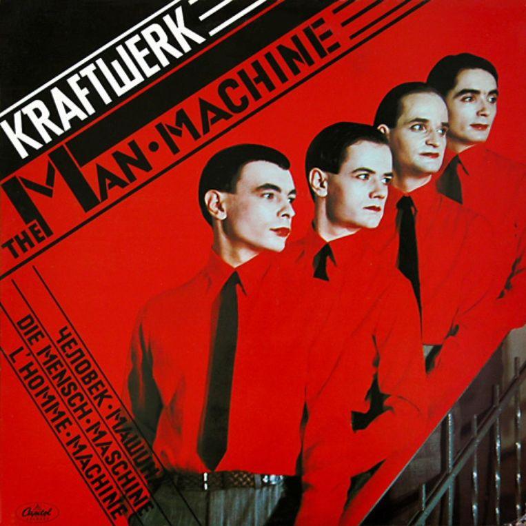 De originele hoes van 'The Man-Machine' uit 1978 Beeld RV