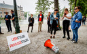 Jongeren- en studentenorganisaties voerden in 2016 actie bij de Tweede Kamer tegen de kansongelijkheid die is ontstaan door het leenstelsel.