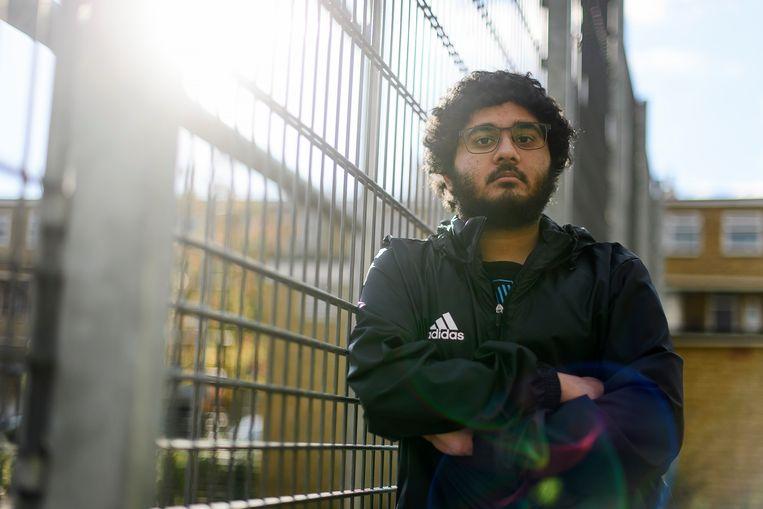 Sohail Ahmed, in zijn Londense buurt: