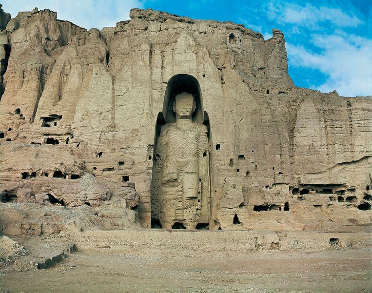 Een van de Boeddha's van Bamyan in Afghanistan.  Beeld Getty