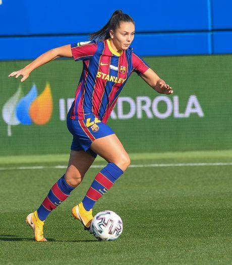 Martens tilt doelsaldo van Barcelona Femení met twee goals naar 103-3