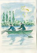 Johnny van Voren: Paling vissen, in het boek 'Tussen water en wind'.