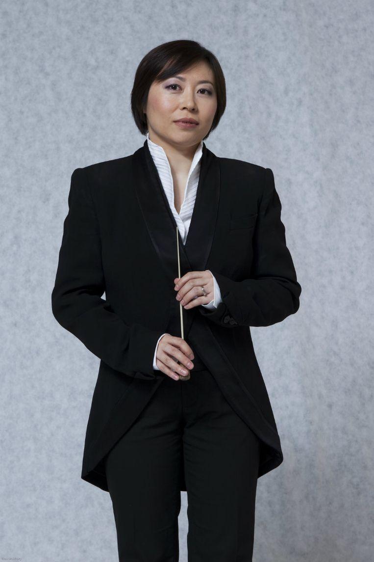 Dirigente Xian Zhang. Beeld Nationaal Jeugdorkest