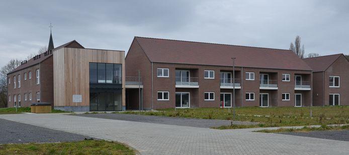 Het serviceflatgebouw langs de Dries in Glabbeek.