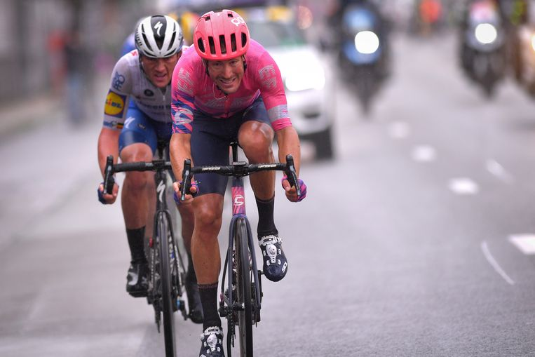 Alberto Bettiol in de finale van Gent-Wevelgem. Beeld BELGA
